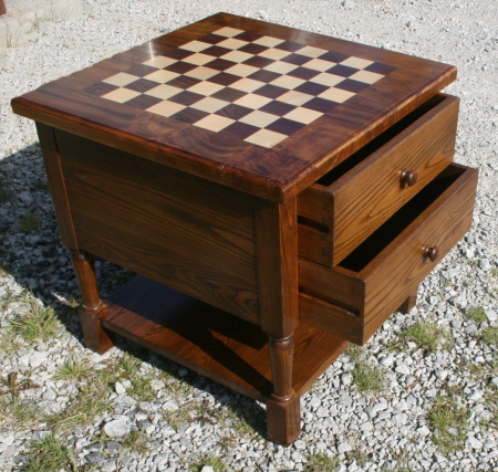 Coffee table, chess elm